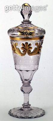 <b>Title</b> : Covered goblet, probably by Christian Gottfried Schneider, Silesian, c.1760 (clear and opaque glass with gilding)<br><b>Medium</b> : clear and opaque glass with gilding<br><b>Location</b> : Hermitage, St. Petersburg, Russia<br> - gettyimageskorea