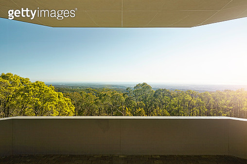 balcony looking out to forest - gettyimageskorea