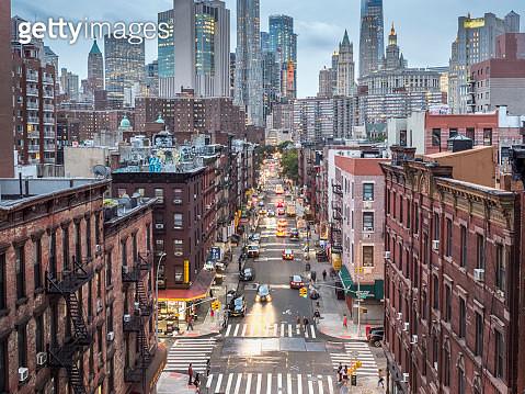 Lower Manhattan cityscape - Chinatown - gettyimageskorea
