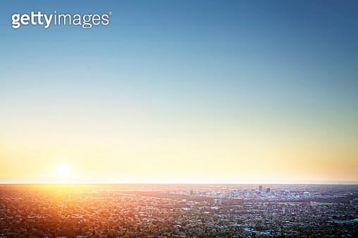 Sunset Over Adelaide - gettyimageskorea