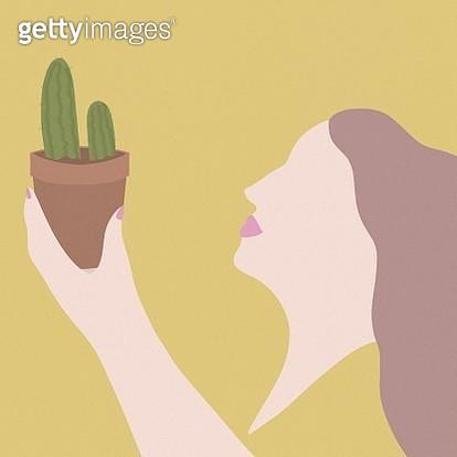 Indoor gardening with cactus. - gettyimageskorea