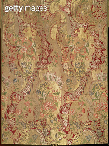 <b>Title</b> : Brocade with exotic pattern, Italian or French, c.1700 (silk, gilt and silver thread)<br><b>Medium</b> : silk, gilt and silver thread<br><b>Location</b> : Hermitage, St. Petersburg, Russia<br> - gettyimageskorea