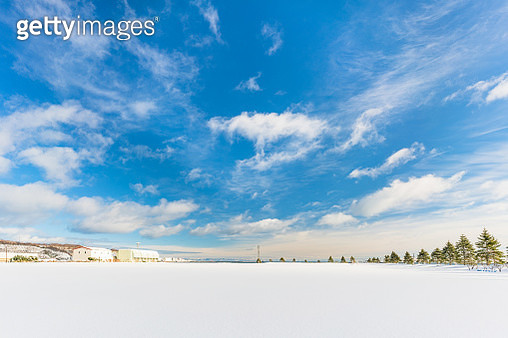 Otaru Harbour covered by deep snow, Japan - gettyimageskorea