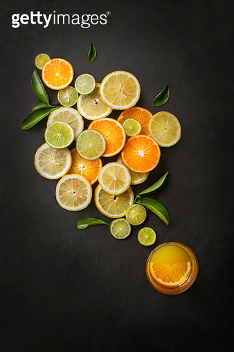 Conceptual citrus fruits juice image. - gettyimageskorea