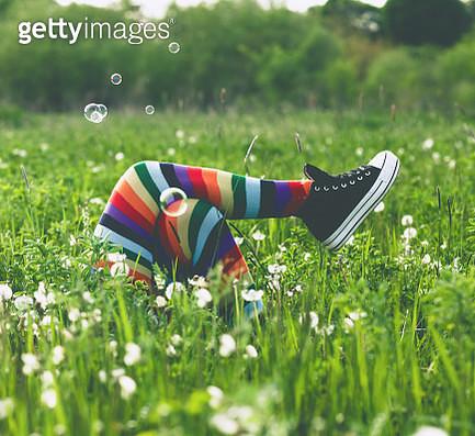 Enjoying in springtime - gettyimageskorea