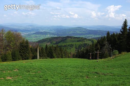 Vast views of Beskydy landscape at Kostelky hill - gettyimageskorea