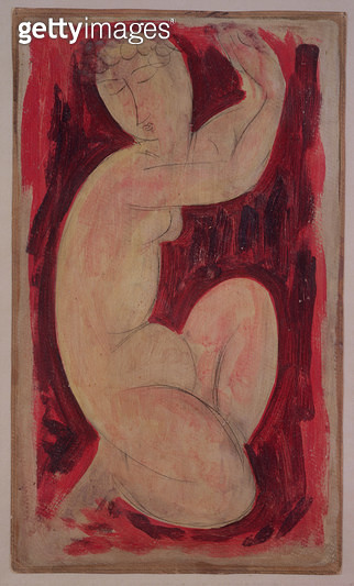 <b>Title</b> : Red Caryatid, 1913 (oil, tempera and crayon on board)<br><b>Medium</b> : oil, tempera and crayon on board<br><b>Location</b> : Noortman, Maastricht, Netherlands<br> - gettyimageskorea
