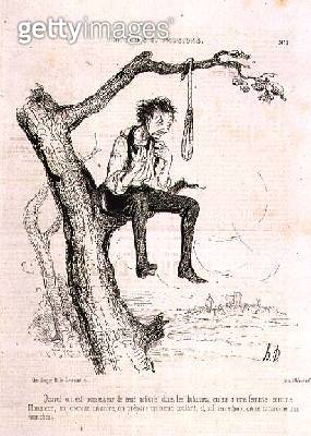 <b>Title</b> : Sentiments and Passions: When you have done too many evil deeds and your wife is like a man, you find a tree, make a noose, and,<br><b>Medium</b> : lithograph<br><b>Location</b> : Central Saint Martins College of Art and Design, London<br> - gettyimageskorea