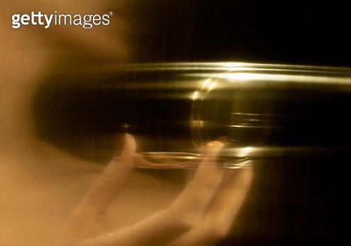 Distorted reflection of model - gettyimageskorea