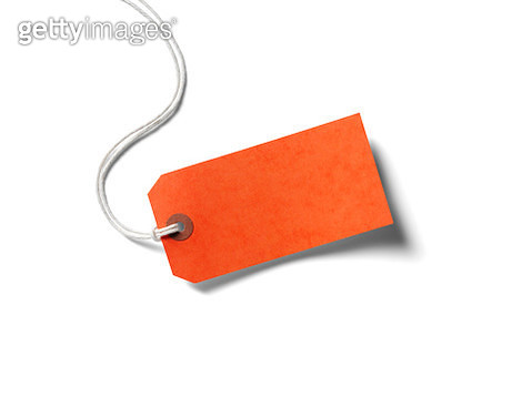 Orange Paper Label - gettyimageskorea
