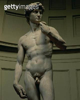<b>Title</b> : David by Michelangelo Buonarroti (1475-1564), 1501-04 (marble) (detail of 4344)<br><b>Medium</b> : <br><b>Location</b> : Galleria dell' Accademia, Florence, Italy<br> - gettyimageskorea
