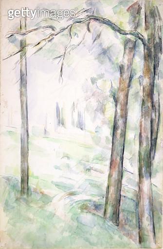 <b>Title</b> : PD.6-1966r The Woods, Aix-en-Provence, c.1890 (w/c and chalk)<br><b>Medium</b> : watercolour over black chalk on paper<br><b>Location</b> : Fitzwilliam Museum, University of Cambridge, UK<br> - gettyimageskorea