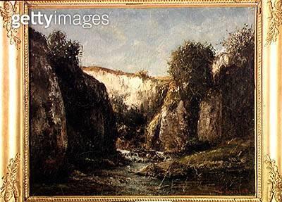 <b>Title</b> : The Source of the Doubs, 1871 (oil on canvas)Additional InfoSource des rochers du Doubs;<br><b>Medium</b> : oil on canvas<br><b>Location</b> : Musee des Beaux-Arts et d'Archeologie, Besancon, France<br> - gettyimageskorea