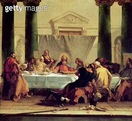 <b>Title</b> : The Last Supper, 1745-50 (oil on canvas)<br><b>Medium</b> : oil on canvas<br><b>Location</b> : Louvre, Paris, France<br> - gettyimageskorea