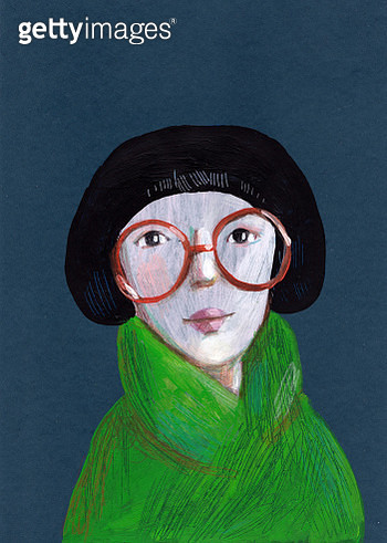 woman with glasses - gettyimageskorea