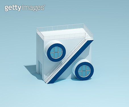Percentage sign-shaped house - gettyimageskorea