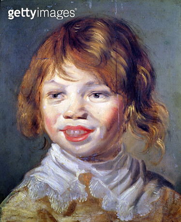<b>Title</b> : The Laughing Child (oil on canvas)<br><b>Medium</b> : oil on panel<br><b>Location</b> : Musee des Beaux-Arts, Dijon, France<br> - gettyimageskorea