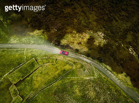 Aerial View of road - gettyimageskorea