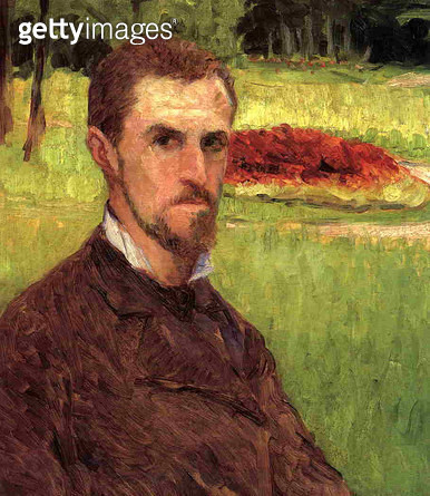 <b>Title</b> : Self Portrait, 1875-76 (oil on canvas)Additional InfoAutoportrait; French Impressionist painter;<br><b>Medium</b> : oil on canvas<br><b>Location</b> : Private Collection<br> - gettyimageskorea