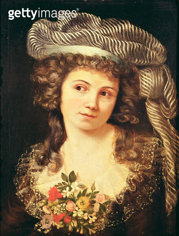 <b>Title</b> : Portrait of a young woman in the style of Labille-Guiard (oil on canvas)Additional InfoAdelaide Labille-Guiard (c.1749-1803) Fre<br><b>Medium</b> : oil on canvas<br><b>Location</b> : Musee des Beaux-Arts et d'Archeologie, Besancon, France<b - gettyimageskorea