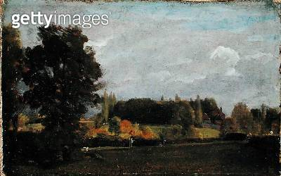 <b>Title</b> : East Bergholt, 1808 (oil on millboard)<br><b>Medium</b> : oil on millboard<br><b>Location</b> : Fitzwilliam Museum, University of Cambridge, UK<br> - gettyimageskorea
