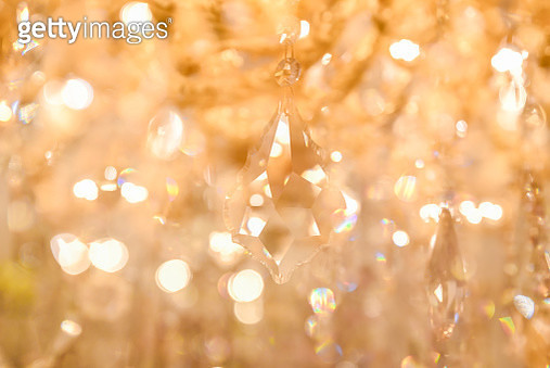 Crystal lamp, chandelier at night. - gettyimageskorea