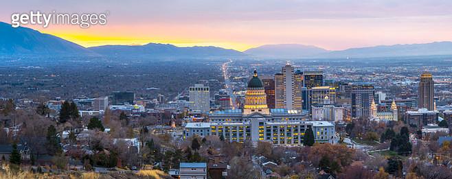 Salt Lake City at Dawn panorama - gettyimageskorea