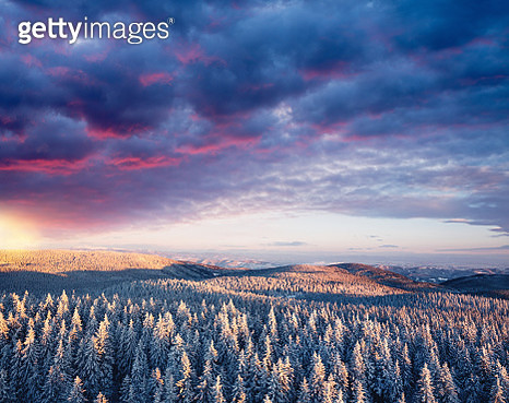 Winter Sunset - gettyimageskorea