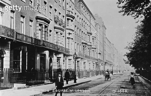Montagu Square, Marylebone, London W1. - gettyimageskorea