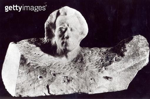 <b>Title</b> : Mozart (Portrait of Mahler), 1911 (marble) (b/w photo)Additional InfoGustav Mahler (1860-1911); Wolfgang Amadeus Mozart (1756-91<br><b>Medium</b> : <br><b>Location</b> : Private Collection<br> - gettyimageskorea