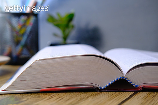 Open book on table - gettyimageskorea
