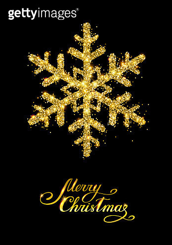 Golden snowflake - gettyimageskorea