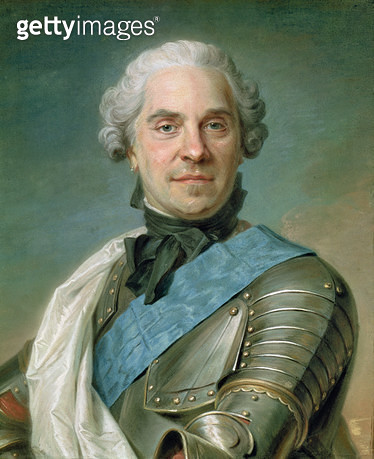 <b>Title</b> : Portrait of Maurice (1696-1750) Comte de Saxe (pastel on paper)<br><b>Medium</b> : pastel on paper<br><b>Location</b> : Louvre, Paris, France<br> - gettyimageskorea