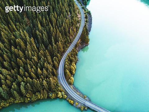 diablo lake aerial view - gettyimageskorea