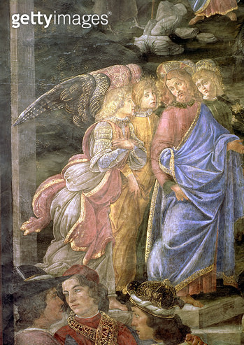 <b>Title</b> : The Purification of the Leper and the Temptation of Christ, from the Sistine Chapel, 1481 (fresco) (detail)Additional Infodetail<br><b>Medium</b> : <br><b>Location</b> : Vatican Museums and Galleries, Vatican City, Italy<br> - gettyimageskorea