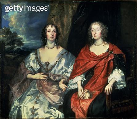 <b>Title</b> : A. Dalkieth (Countess Morton) and Lady Kirk, 1640<br><b>Medium</b> : oil on canvas<br><b>Location</b> : Hermitage, St. Petersburg, Russia<br> - gettyimageskorea