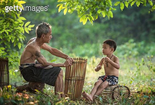 Father teach son. - gettyimageskorea