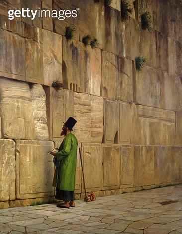 <b>Title</b> : The Wailing Wall, 1880 (oil on canvas)<br><b>Medium</b> : oil on canvas<br><b>Location</b> : The Israel Museum, Jerusalem, Israel<br> - gettyimageskorea