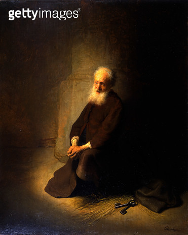 <b>Title</b> : St. Peter in Prison, 1631 (oil on panel)<br><b>Medium</b> : oil on panel<br><b>Location</b> : The Israel Museum, Jerusalem, Israel<br> - gettyimageskorea