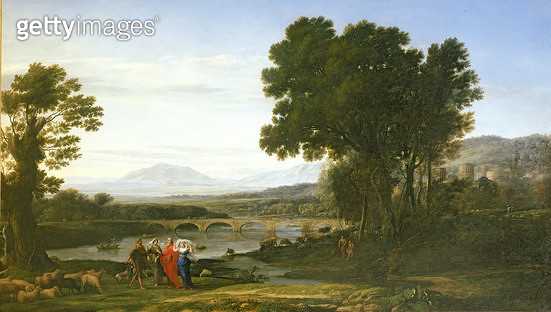 <b>Title</b> : Landscape with Jacob and Laban and Laban's Daughters, 1654<br><b>Medium</b> : oil on canvas<br><b>Location</b> : Petworth House, Sussex, UK<br> - gettyimageskorea