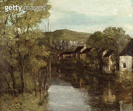 <b>Title</b> : The Reflection of Ornans, c.1872 (oil on canvas)<br><b>Medium</b> : oil on canvas<br><b>Location</b> : Musee-Maison Natale Gustave Courbet, Ornans, France<br> - gettyimageskorea