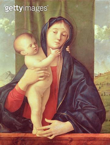 <b>Title</b> : Virgin and Child, c.1487 (oil on panel)<br><b>Medium</b> : oil on panel<br><b>Location</b> : Museu de Arte Sacra, Sao Paulo, Brazil<br> - gettyimageskorea