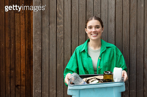 portrait of a girl with recycling - gettyimageskorea
