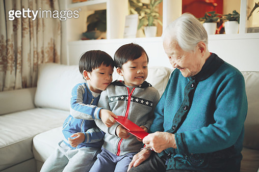Happy Asian family, in the new year - gettyimageskorea