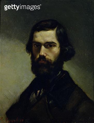 <b>Title</b> : Portrait of Jules Valles (1832-85) c.1861 (oil on canvas)<br><b>Medium</b> : oil on canvas<br><b>Location</b> : Musee de la Vie Romantique, Paris, France<br> - gettyimageskorea