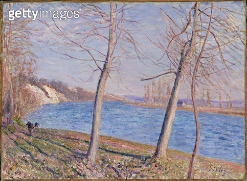 <b>Title</b> : The Banks of the River at Veneux, 1881Additional InfoBords de Rivere a Veneux;<br><b>Medium</b> : oil on canvas<br><b>Location</b> : Johannesburg Art Gallery, South Africa<br> - gettyimageskorea