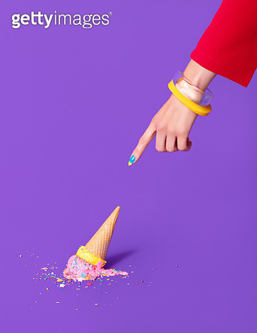 Dropped Ice Cream - gettyimageskorea