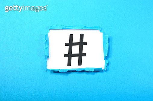 HashTag Sign - gettyimageskorea