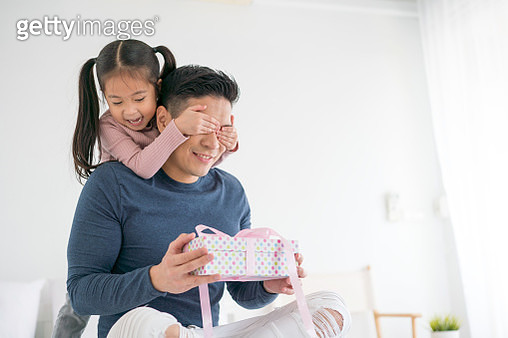 Father's day. Happy family daughter hugging dad and laughs on holiday - gettyimageskorea