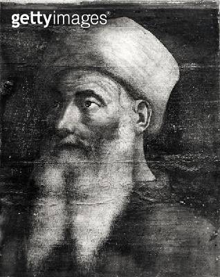 <b>Title</b> : Five Masters of the Florentine Renaissance, detail of Paolo Uccello (1397-1475) (tempera on panel) (b/w photo)Additional Infooth<br><b>Medium</b> : tempera on panel<br><b>Location</b> : Louvre, Paris, France<br> - gettyimageskorea